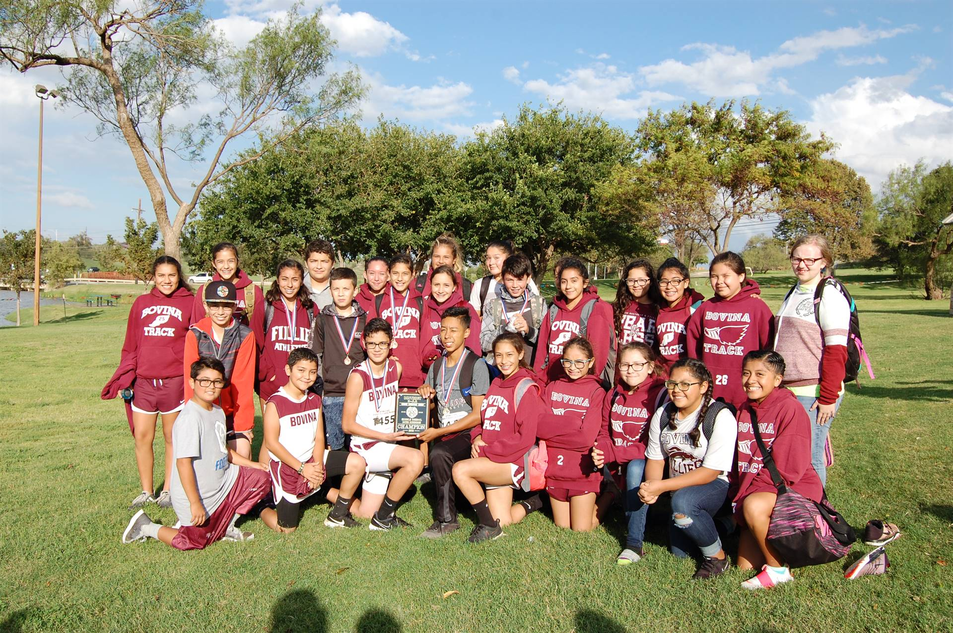 Picture of Bovina Middle School District Cross Country Team