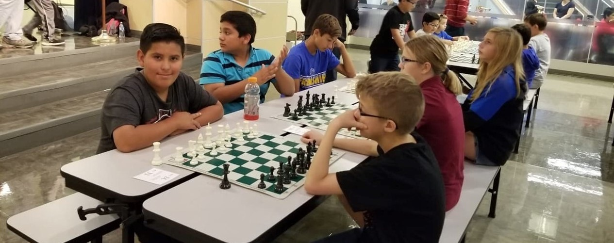 Middle School Playing Chess