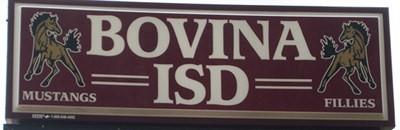 Bovina ISD sign